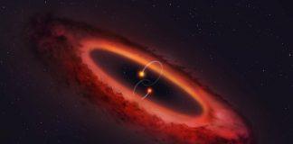 Hallan un sistema estelar con una formación cuádruple extraña y alineado como una noria
