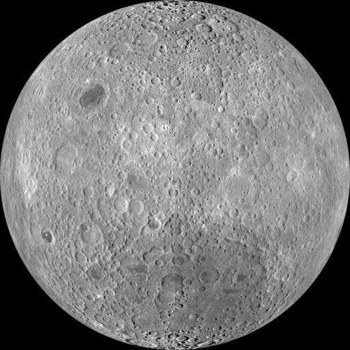 Esta imagen compuesta puesta a disposición por la NASA en 2011 muestra el otro lado de la Luna