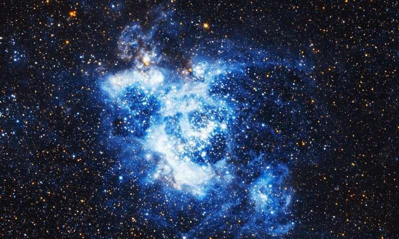 Esta imagen muestra a NGC 604, ubicada dentro de la galaxia Triangulum