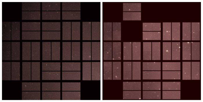 Primera luz (izquierda) y última luz, lado a lado