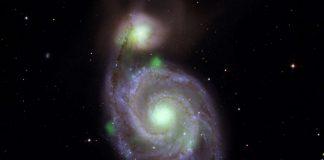 Observan un destello causado por agujeros negros y una poderosa estrella de neutrones en la Galaxia Whirlpool