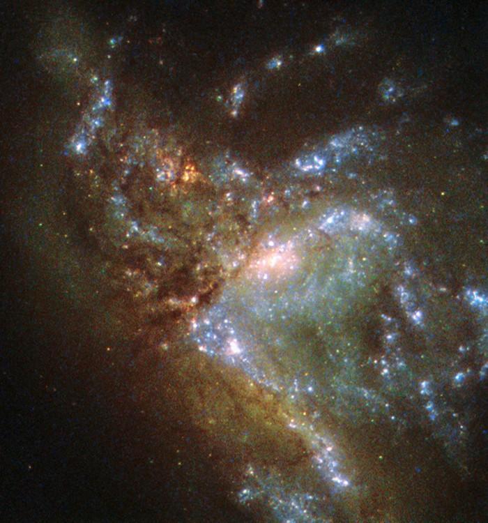 La colisión de galaxias vista por el Hubble