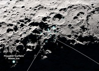 Detectan moléculas de agua «en movimiento» en la Luna