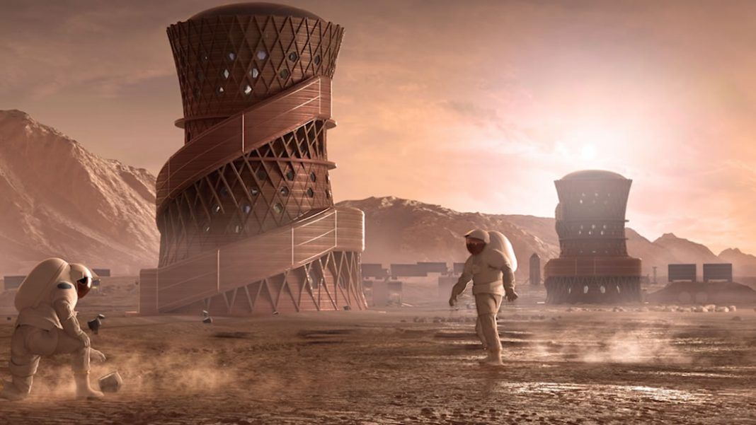 Estos hábitats de Marte impresos en 3D acaban de ganar un premio de la NASA