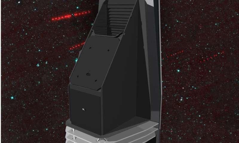 Una imagen de la misión propuesta de la Near-Earth Object Camera (NEOCam), que está diseñada para encontrar, rastrear y caracterizar los asteroides y cometas que se aproximan a la Tierra