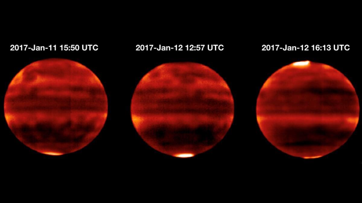 La atmósfera de Júpiter se está calentando más de lo que se pensaba