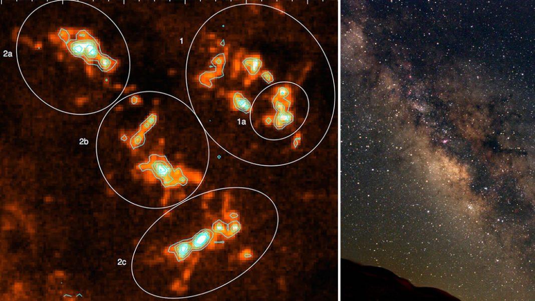 Observan por primera vez, en alta resolución, una enorme región de formación de estrellas de la Vía Láctea