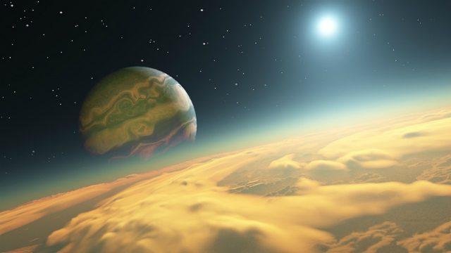 Representación artística de Kepler-1625b