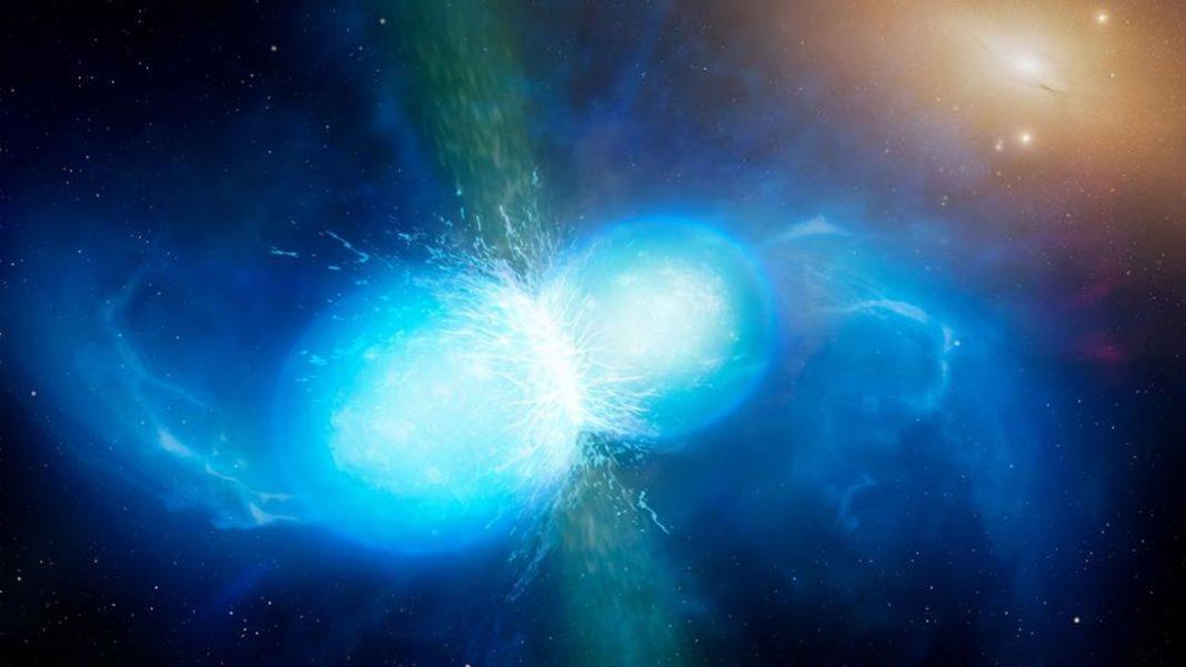 Dos estrellas de neutrones colisionaron cerca del sistema solar hace miles de millones de años