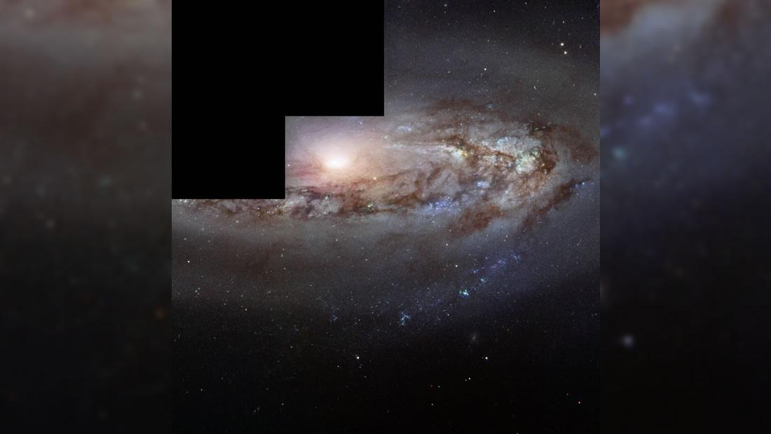 Hubble observa una curiosa galaxia cada vez «más de cerca»