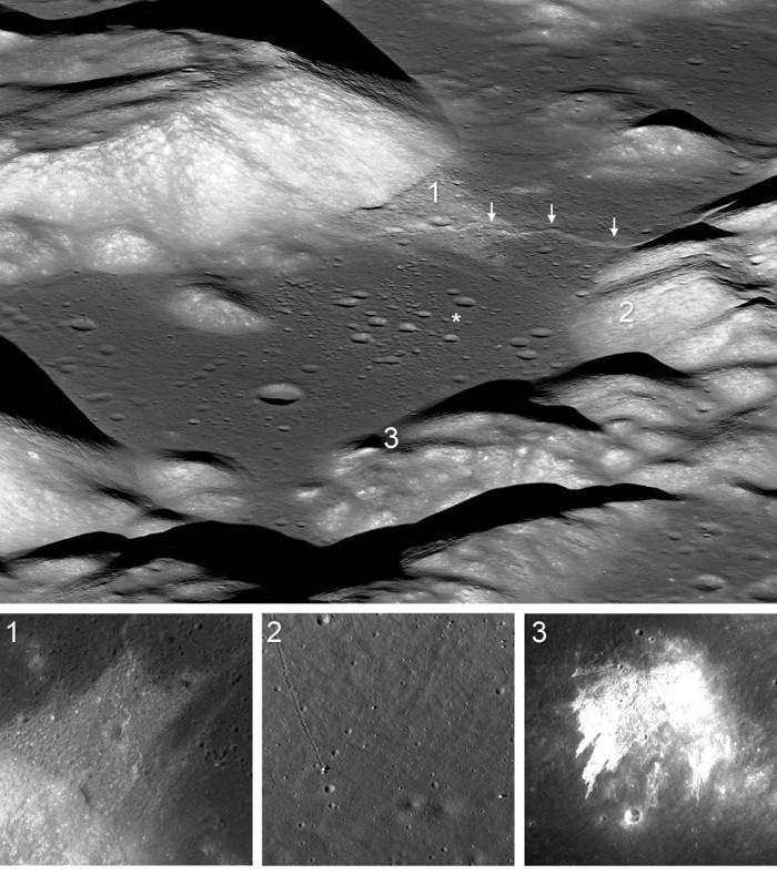 El valle de Taurus-Littrow es la ubicación del lugar de aterrizaje del Apolo 17. Cortando a través del valle, justo por encima del lugar de aterrizaje, está el escarpe de falla de Lee-Lincoln. El movimiento en la falla fue la fuente probable de numerosos terremotos de luna que desencadenaron eventos en el valle