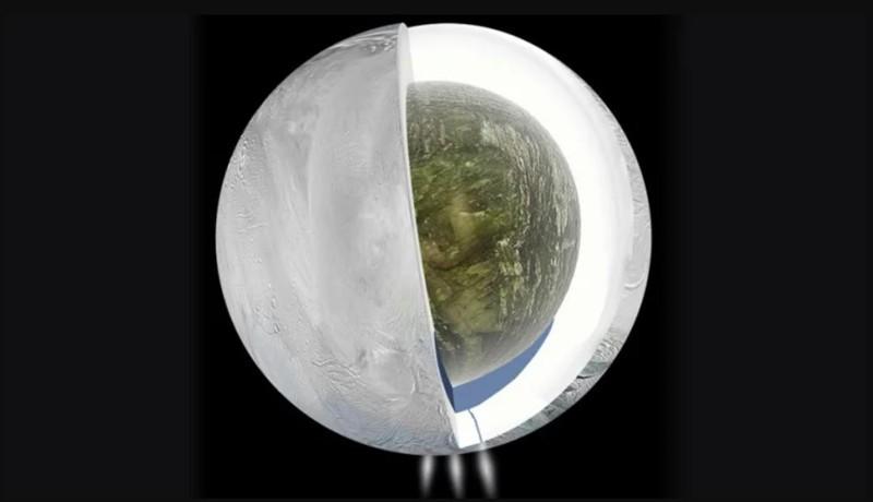 Penachos lanzados por Encélado
