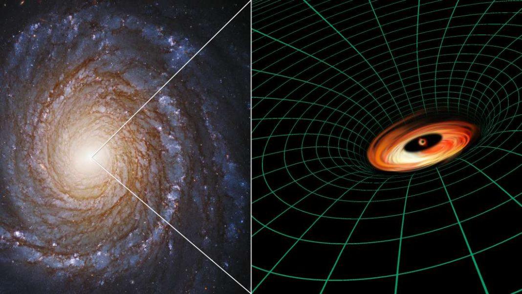 Hubble descubre el disco de agujero negro que no debería existir