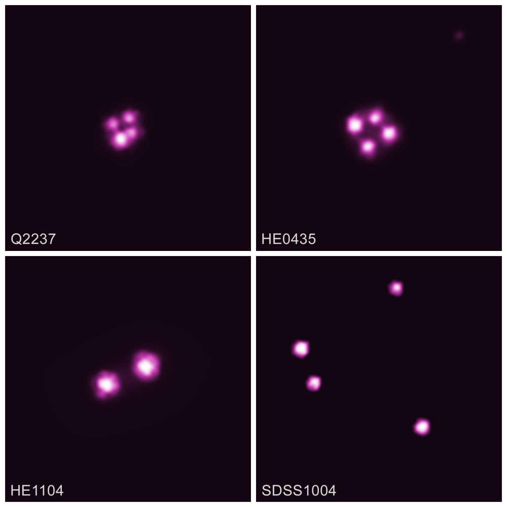 Los quásares de lentes en este estudio