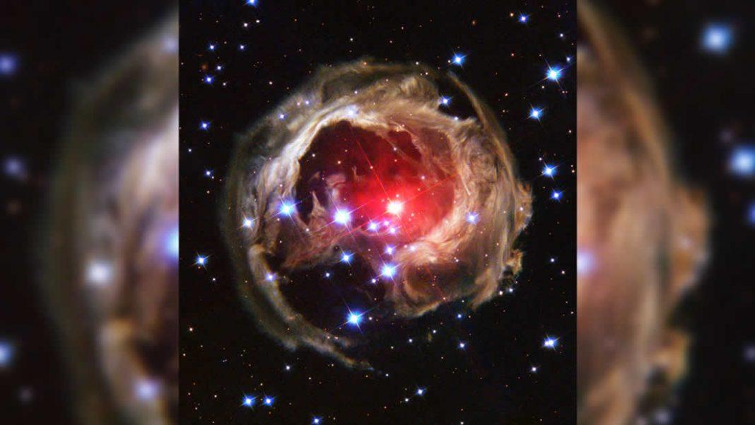 Estrella moribunda genera un destello explosivo como lo hará nuestro Sol en el futuro