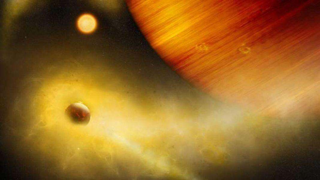 Astrónomos detectan indicios de una exoluna volcánica infernal