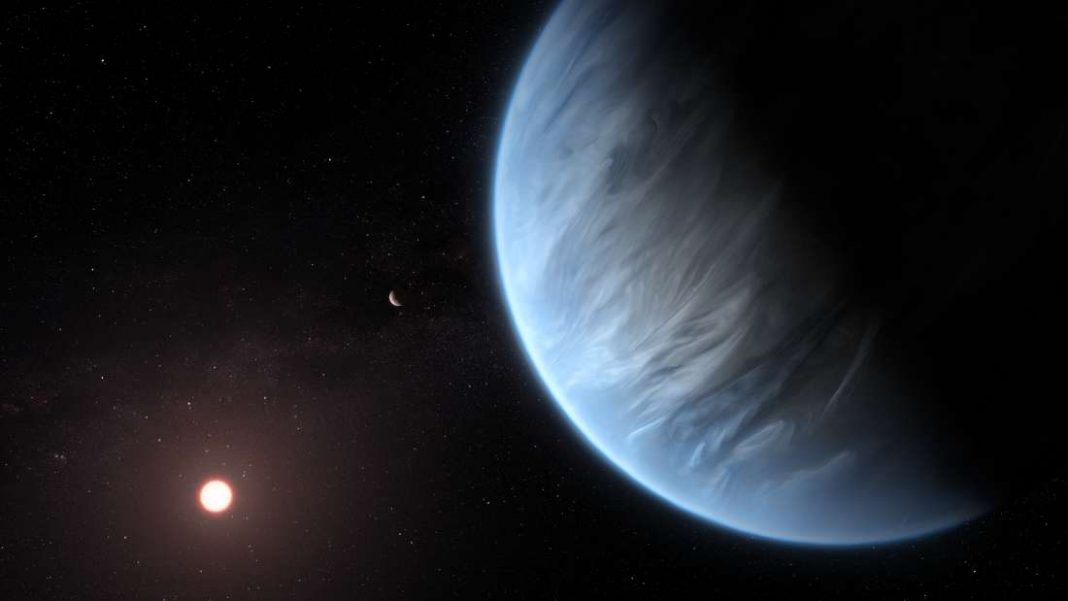 Detectan agua en la atmósfera de un exoplaneta potencialmente habitable